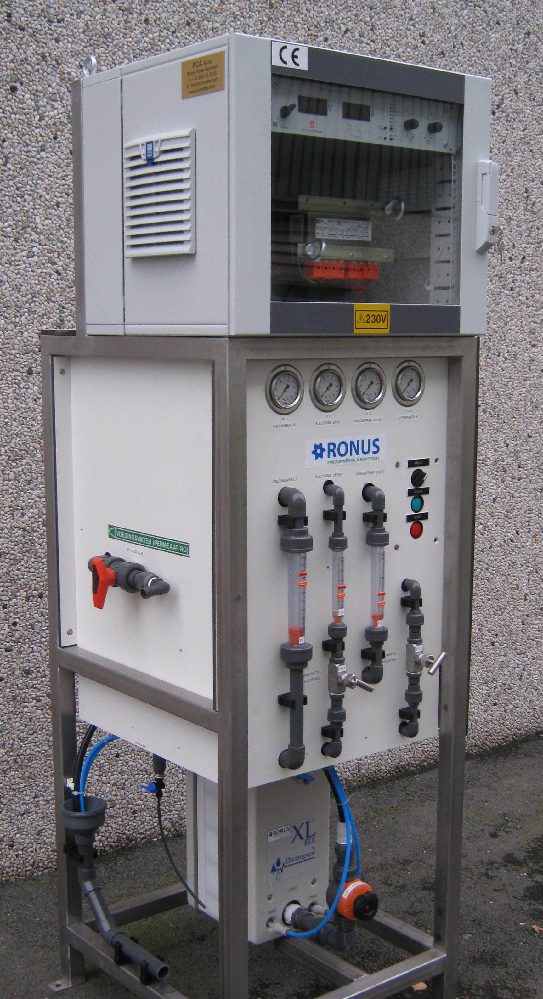 Electrodeionization, PCA Water