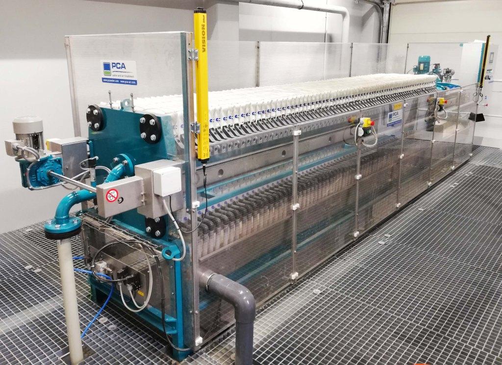 Fysico-chemische afvalwaterzuivering bij Gustav Wolf, PCA water