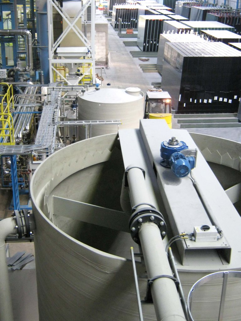 Water treatment installation for polishing glass, PCA Water