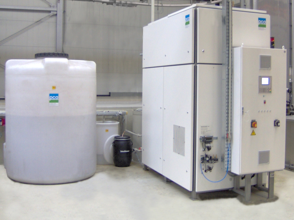 vacuümverdamper, PCA water